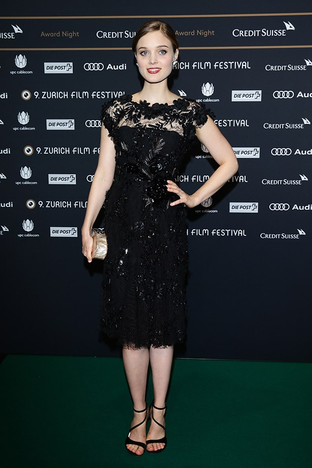 """<p><strong>Bella Heathcote</strong></p> <p>A red-carpet regular these days, the Australian actress recently strutted her stuff at the Zurich Film Festival awards, wearing a black Elie Saab cocktail dress paired with Stuart Weitzman sandals, a pearl Edie Parker """"Jean"""" clutch and House of Lavande earrings. She also stepped out this month in head-to-toe Chanel. Classy.</p>"""