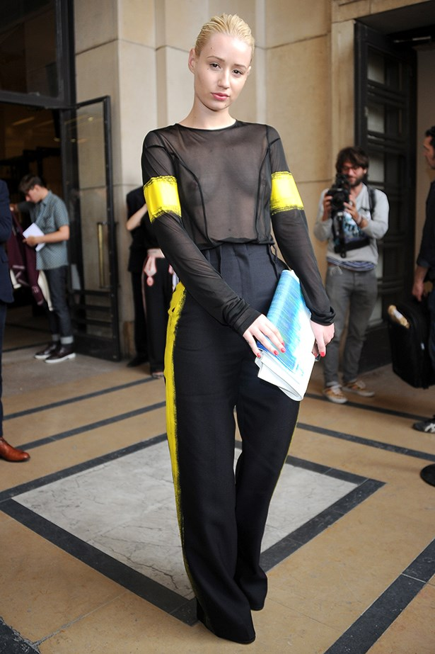 <p><strong>Iggy Azalea </strong></p> <p>The American-based Australian rapper Azalea made a bold fashion move this year, adding shock value to Paris Fashion Week when she flashed her breasts in a see-through mesh top. The girl from Mullumbimby's controversial fashion looks continue to make headlines, just like her music. </p>