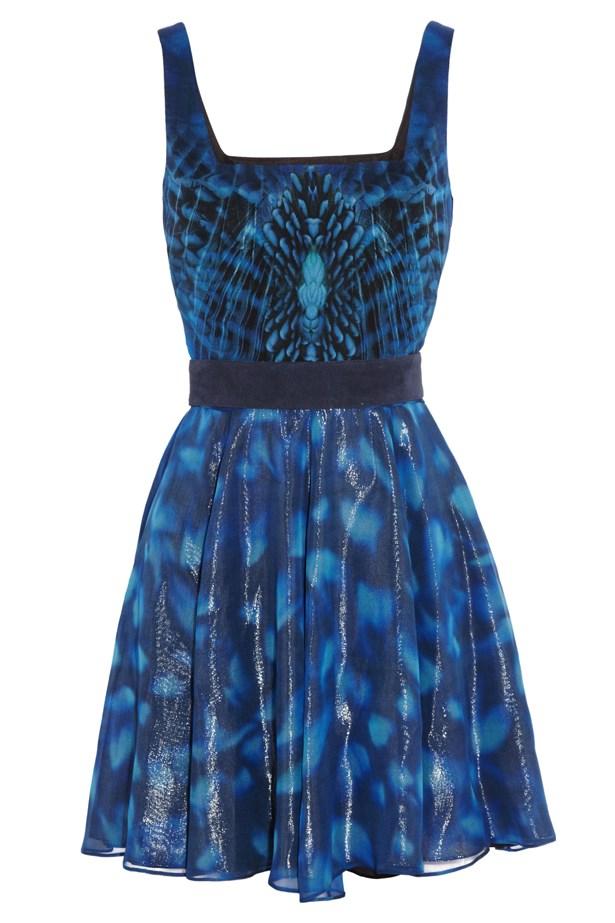 Mockingjay printed silk-chiffon dress for Net-A-Porter