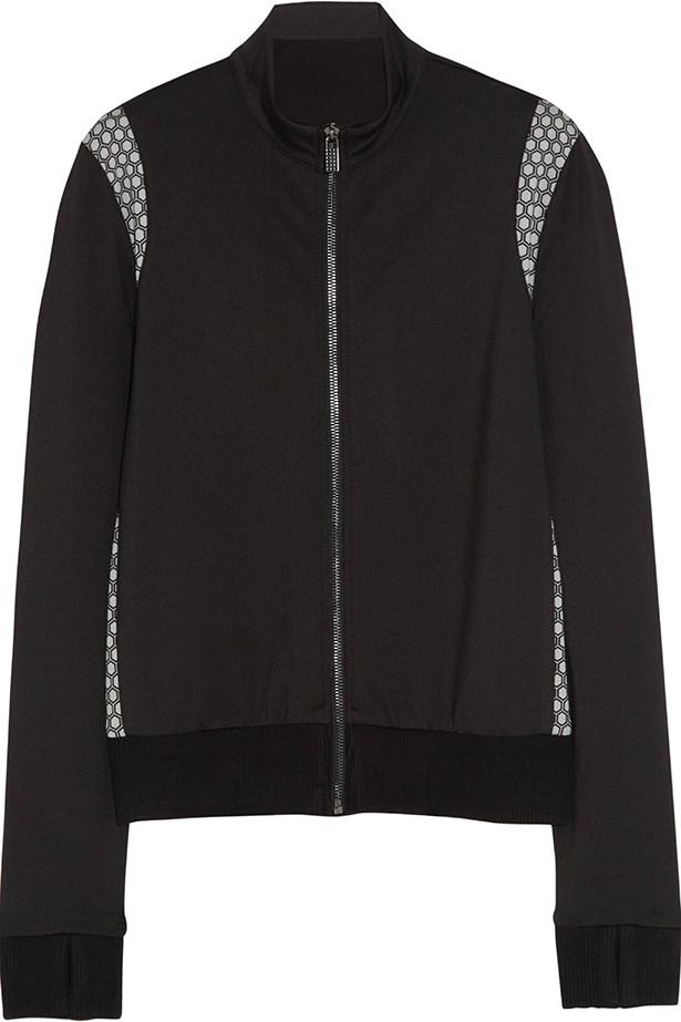Honeycomb print stretch jersey jacket for Net-A-Porter