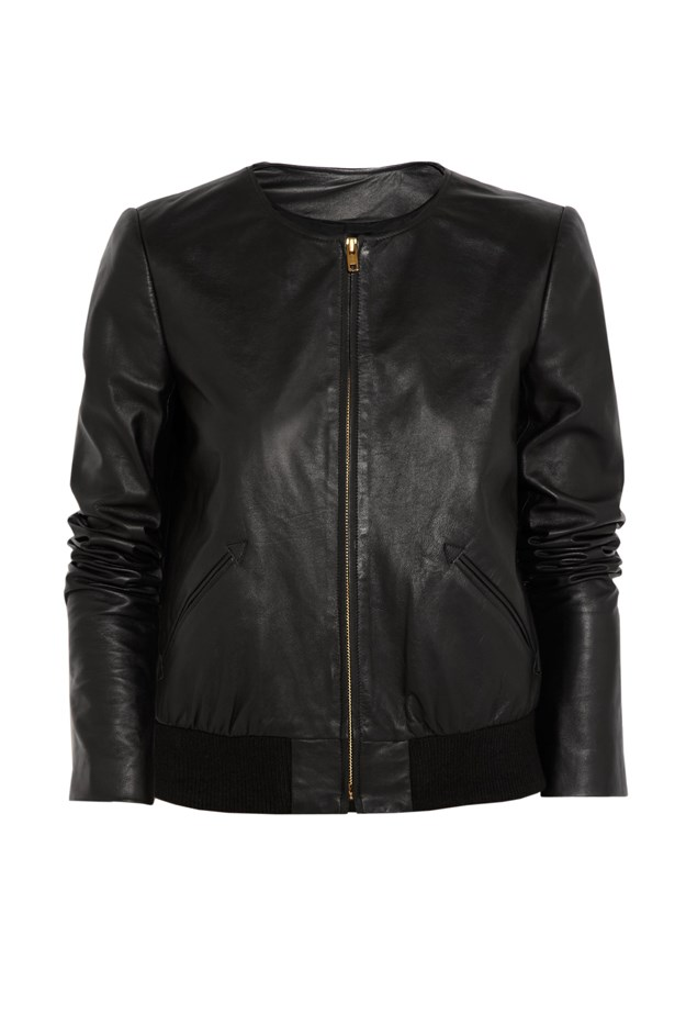 Leather bomber jacket for Net-A-Porter
