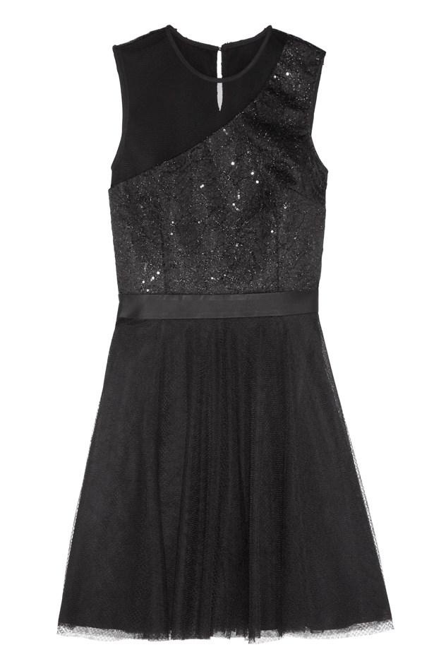 Sequin embellished crepe and tulle dress for Net-A-Porter