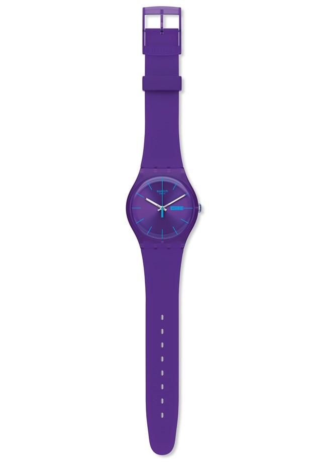 """Watch, $95, Swatch, <a href=""""http://www.swatch.com """">swatch.com </a>"""