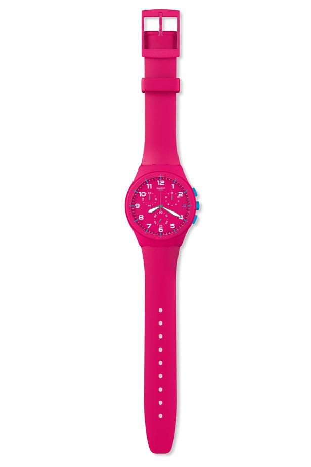 """Watch, $150, Swatch, <a href=""""http://www.swatch.com """">swatch.com </a>"""