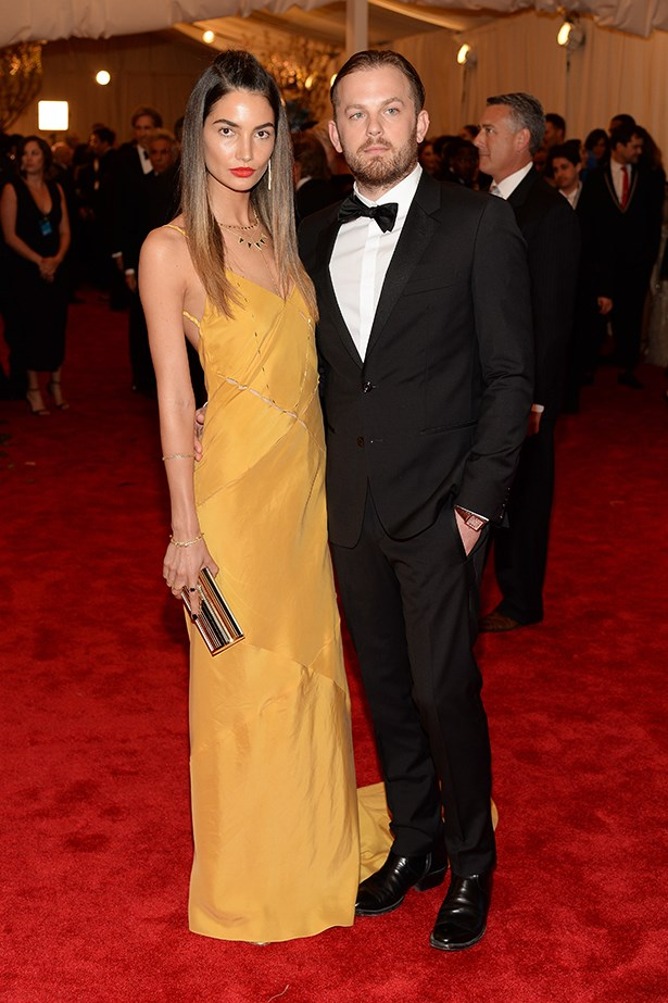 Aldridge wearing a Tommy Hilfiger dress, clutch by Jimmy Choo and Jennifer Meyer jewels at this year's Met Gala.