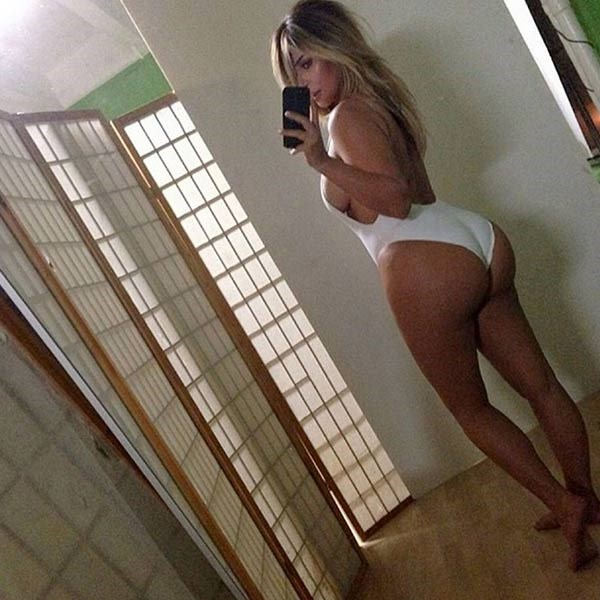 """<strong>Kim Kardashian</strong><br> The reality TV star and Kanye West's baby mumma said <em>that</em> butt selfie was a """"middle finger"""" to everyone who called her fat during her pregnancy with daughter North."""