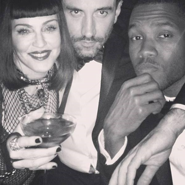 <strong>Riccardo Tisci</strong><br> The creative director of Givenchy posed up a storm with Madonna and Frank Ocean at this year's Metropolitan Museum Of Art Costume Institute Gala. Safe to say a fair few martinis were consumed before this happy snap...