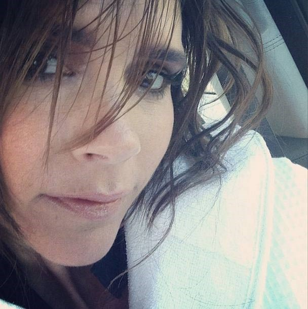 """<strong>Victoria Beckham</strong><br> She's known for her mane of hair extensions (and """"The Pob""""), so it's no surprise this snap of the designer's dark hair - cut into a short and choppy style by celebrity hairdresser Tina Outen - got almost 32,000 likes on Instagram."""