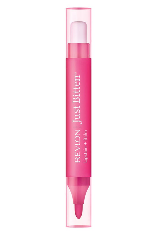 """Just Bitten Lipstain + Balm, $17.95, Revlon, <a href=""""http://revlon.com.au """">revlon.com.au </a> This clever dual-ended stain also contains a nourishing balm to soothe dry lips."""