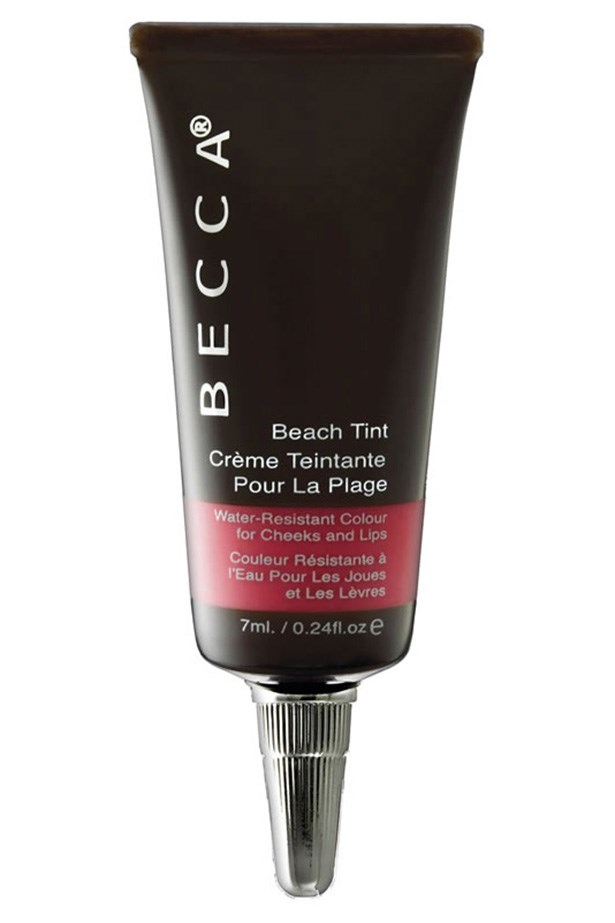 """Beach Tint, $42, Becca, <a href=""""http://beccacosmetics.com.au """">beccacosmetics.com.au </a> The creamy formula of this water-resistant stain for lips and cheeks is perfect for all skin types, with a comfortable and non-greasy finish. Better yet, each shade has a delicious fruity scent."""