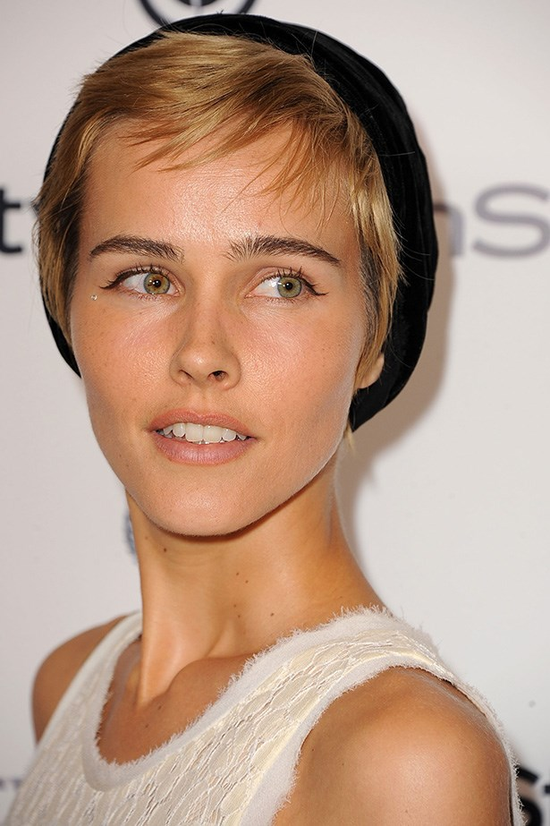 <strong>Oblong</strong>: Isabel Lucas is in good company with fellow oblong-faces – channelling a young Mia Farrow with her boyish pixie cut. Lucas' crop works because of the short, choppy layering that frames her face. Oblongs can have short fringes because of their well-spaced facial features, so if you're the proud owner of one, you know what to do.