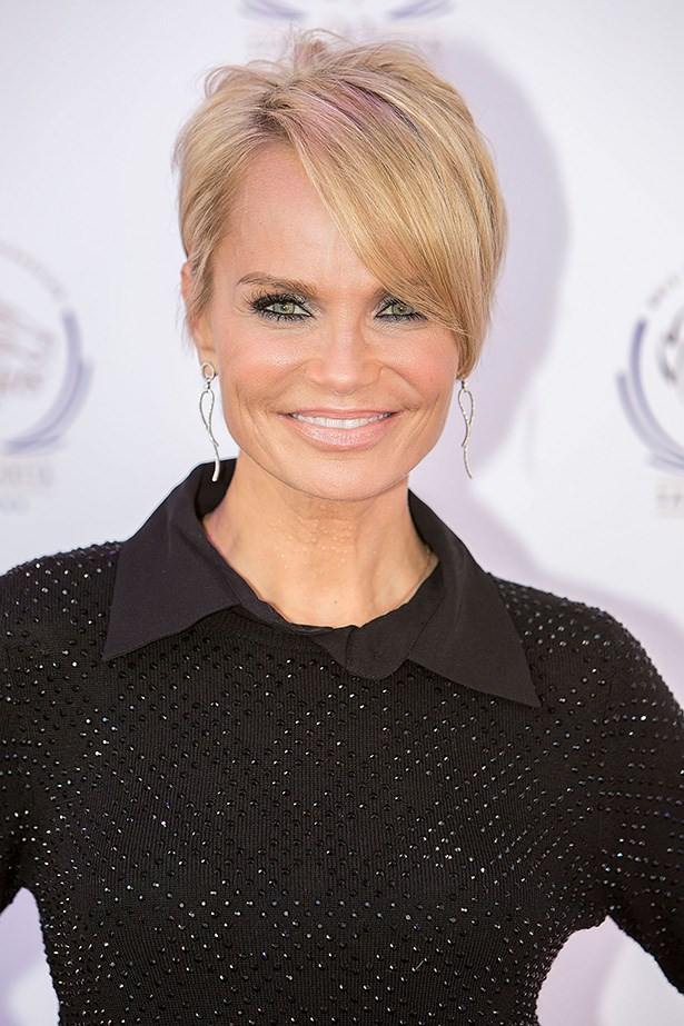 <strong>Square</strong>: Angular, square jaws can be softened by a longer fringe that finishes just above the jawline. Kristin Chenoweth's hair style takes the edge off her angular jaw. Also, a side-part plays with the face's proportion, whereas a centre part will accentuate the jawline.