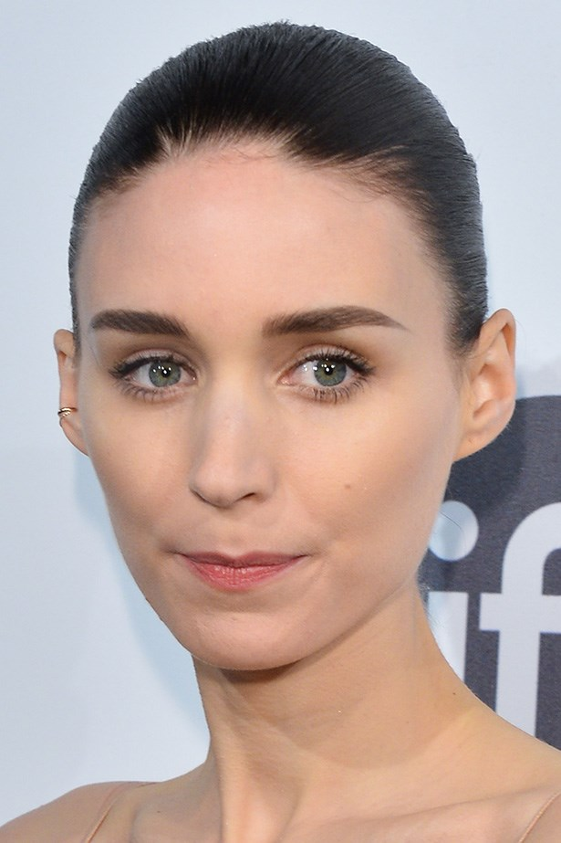 A well-manicured, thick brow paired with porcelain skin is all Rooney Mara needs to shine.