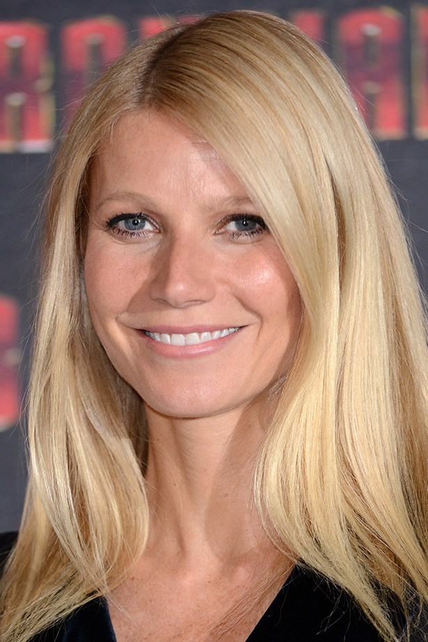 Gwyneth Paltrow shows off her inner radiance with twinkling eyes and luminous skin.