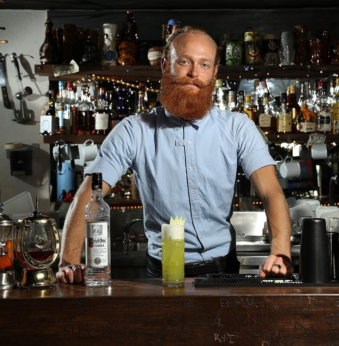 "<p>Max Ray Finch, bartender at The Beaufort, smokes locally sourced Granny Smith apple juice to go in his Ketel One vodka 'This One's Mine' creation, 'The Smoky Steve', available at The Beaufort for $12 for a limited time.</p> <a href=""http://www.thebeaufort.com.au"">www.thebeaufort.com.au</a>"