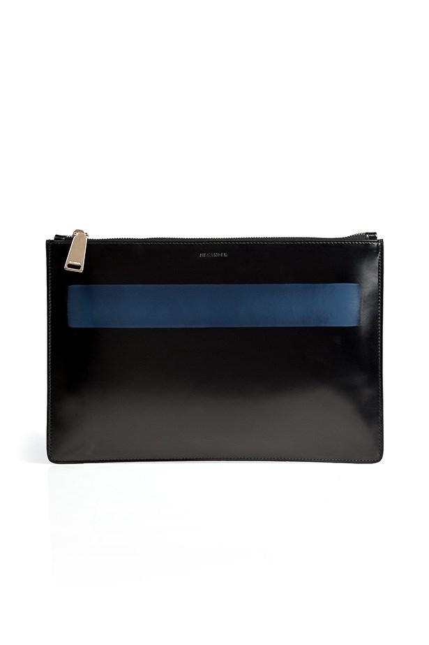 "Clutch, approx $407, Jil Sander,<a href=""http://www.stylebop.com""> stylebop.com</a>"