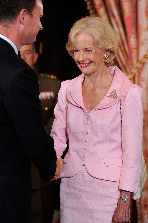 Quentin Bryce the Governor-General of Australia has a love for vivid colours and two-piece suits