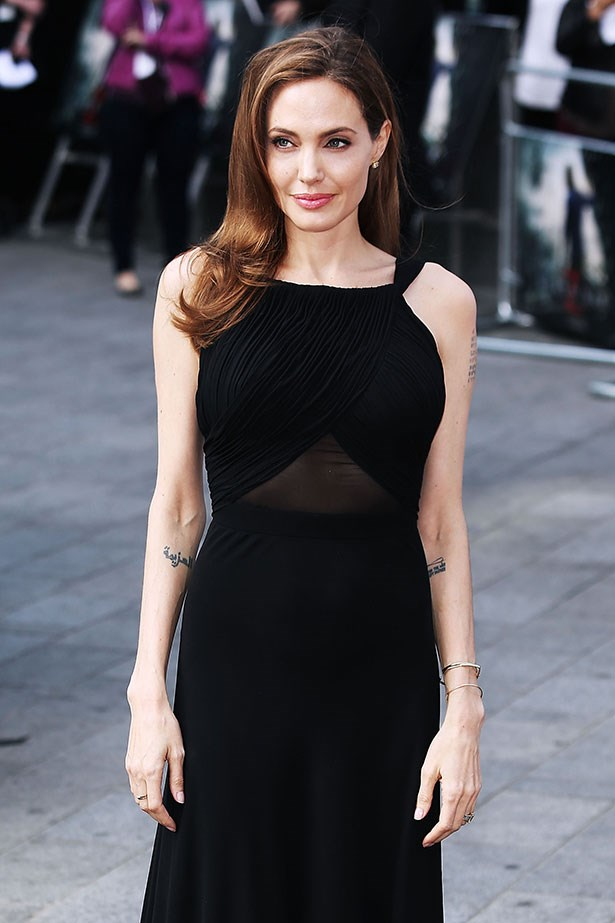 No one looks better in a LBD than Angelina Jolie