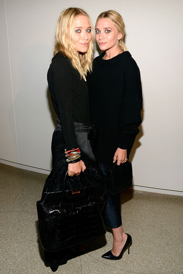 Mary-Kate and Ashley Olsen are pioneers when it comes to black on black dressing