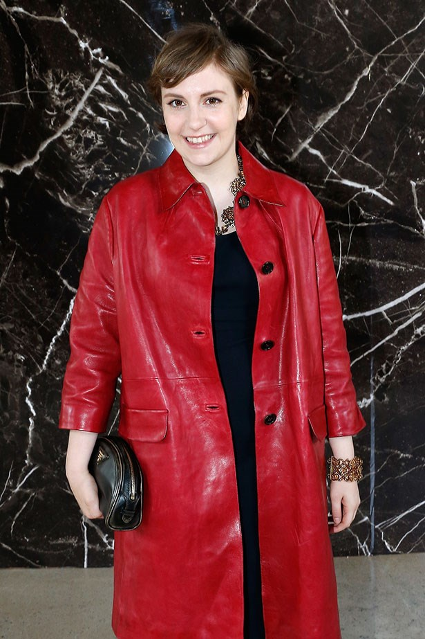From Lena Dunham's short shorts to this red leather coat, we believe she can pull-off any outfit