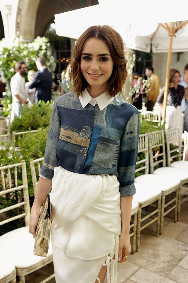 Lily Collins always looks comfortable yet chic in her outfits