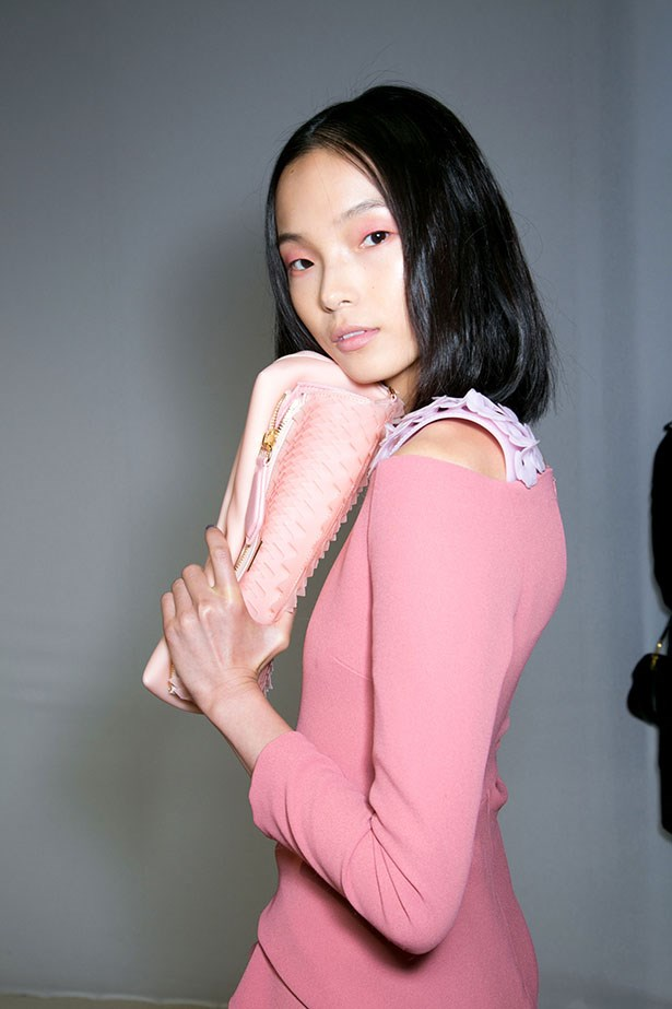 <p>We're thankful for… Burberry Prorsum making it OK to take pink seriously. Classic lace and spring coats are refreshed with a splash of the rosy hue.</p> <p>Burberry Prorsum SS14</p>