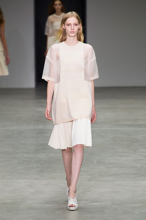 <p>We're thankful for… Calvin Klein Collection's strategically placed sheer panels. The perfect mix of sexy and modest.</p> <p>Calvin Klein Collection SS14</p>