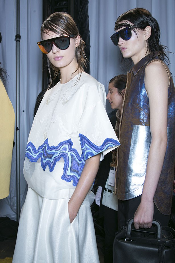 <p>We're thankful for… the oversized shapes taking over the SS14 runways. Just in time for Christmas overindulging.</p> <P>3.1 Phillip Lim SS14</p>