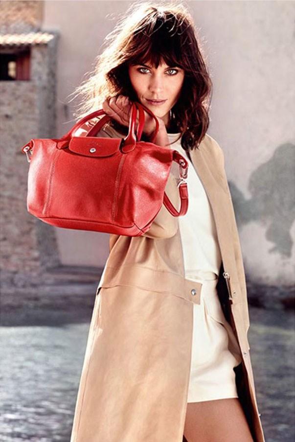 Alexa Chung for Longchamp Le Pliage bag