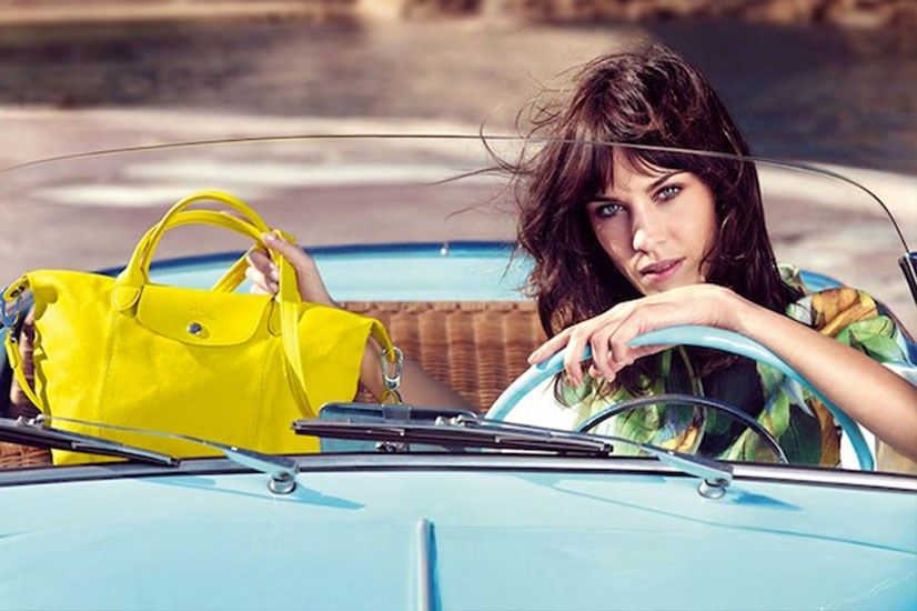 Alexa Chung in Longchamp's SS14 campaign