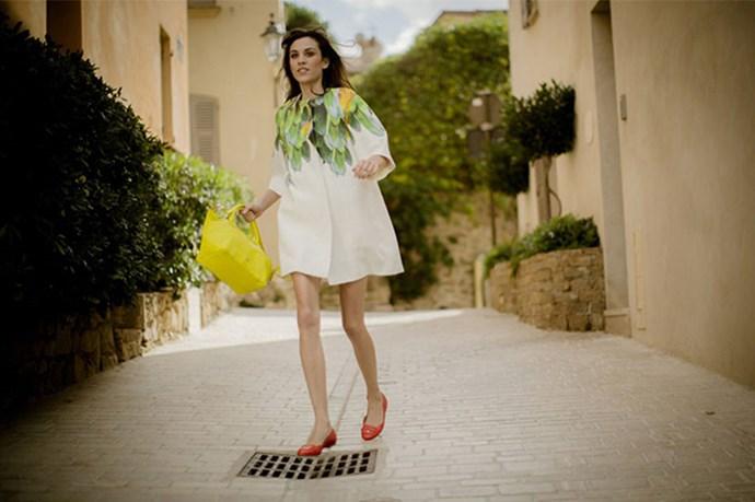 Alexa Chung for Longchamp's SS14 campaign