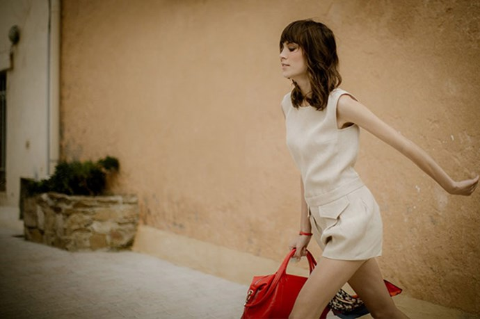 Behind the scenes on Alexa Chung's campaign for Longchamp