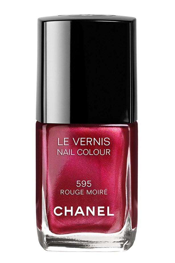 Le Vernis Nail Colour in Rouge Moiré, $39, Chanel, 02 9900 2944