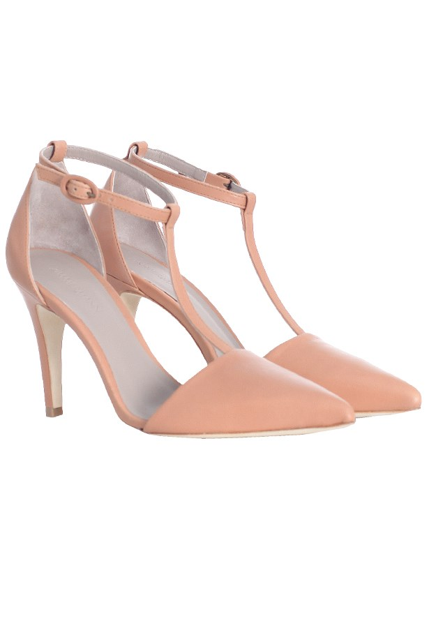 "Heels, $395, Zimmermann, <a href=""http://www.zimermannwear.com"">zimermannwear.com</a>"