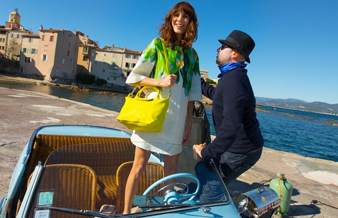 Behind the scenes with Alexa Chung on the Longchamp campaign