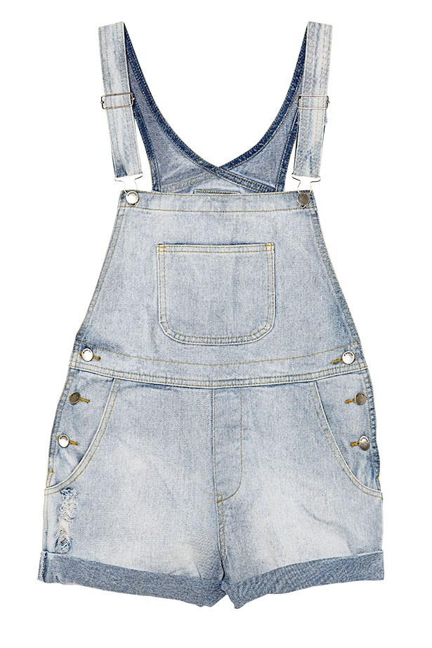 "Denim overalls, $89.95, All About Eve, <a href=""http://www.allabouteveclothing.com/"">allabouteveclothing.com</a>"