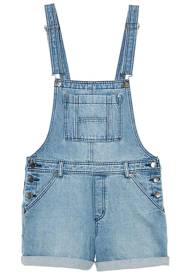 """Denim overalls, $49.95, CO by Cotton On, <a href=""""http://shop.cottonon.com/co-women/"""">cottonon.com</a>"""