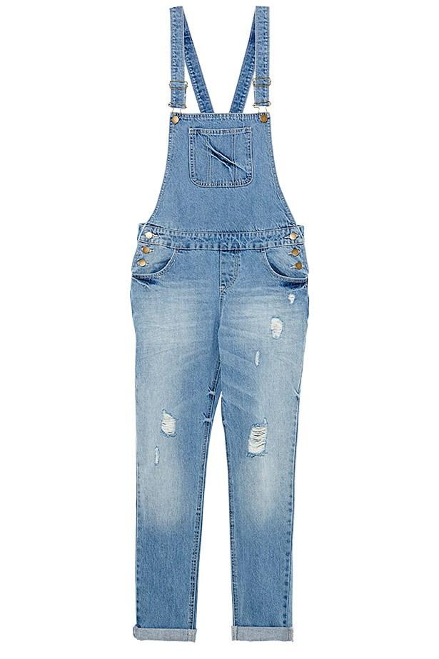 """Denim overalls, $69.95, Glassons,<a href=""""http://www.glassons.com/""""> glassons.com</a>"""