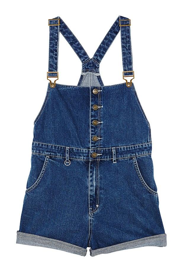 "Denim overalls, $150, Neuw, <a href=""http://www.neuwdenim.com"">neuwdenim.com</a>"