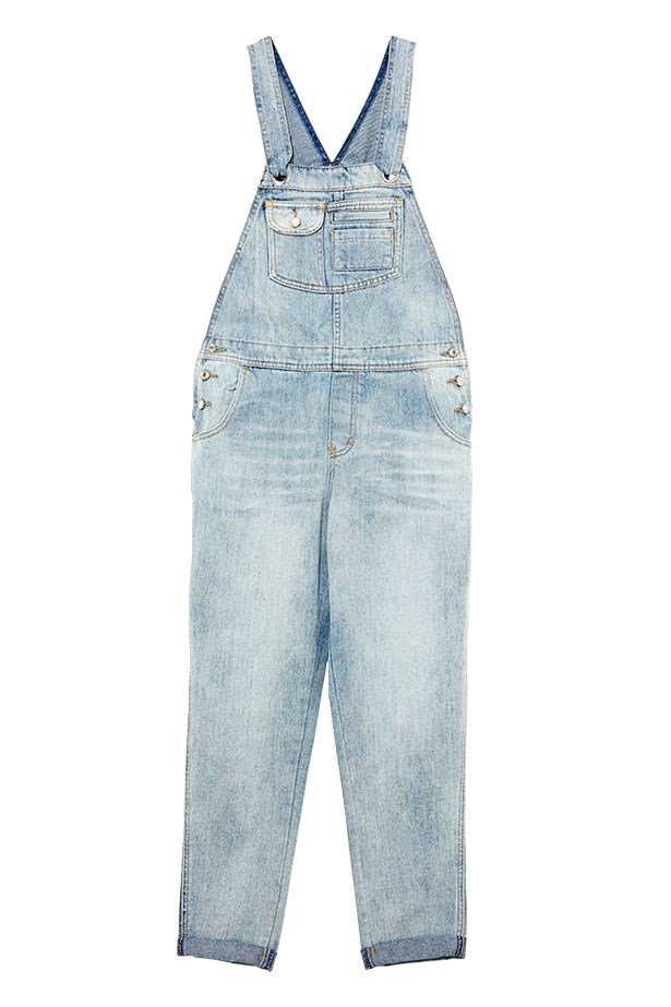"Denim overalls, $130, Stussy, <a href=""http://www.generalpants.com.au"">generalpants.com.au</a>"
