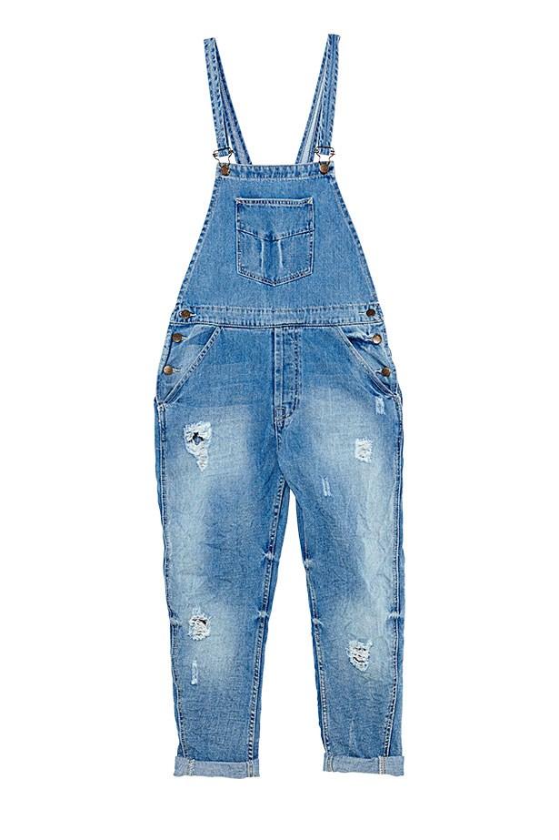 Denim overalls, $89.95, Zara, (02) 9376 7600