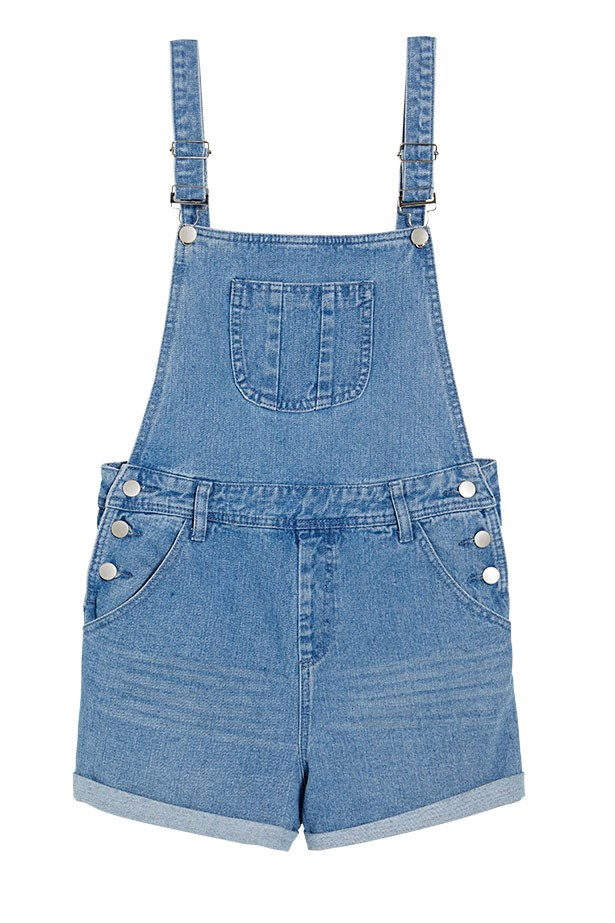 "Denim overalls, $49.95, Missguided,<a href=""http://www. missguided.com""> missguided.com</a>"