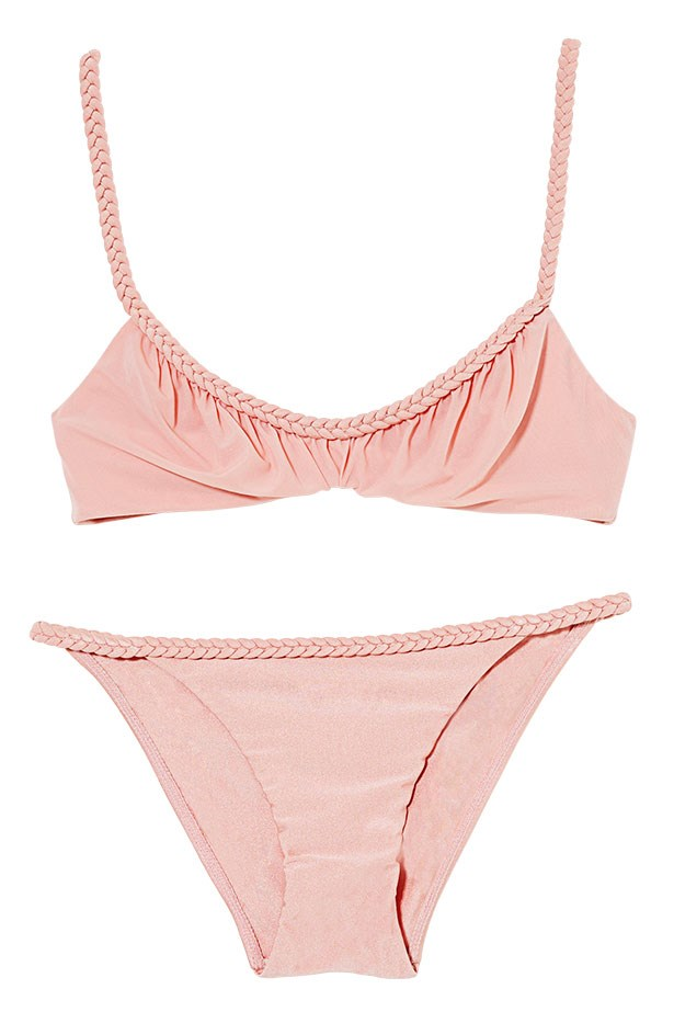 "<p>Beach club: sweeten your swim with sorbet shades</p> <p>Bikini, $220, Zimmermann, <a href=""http://www.zimmermannwear.com"">zimmermannwear.com</a></p>"