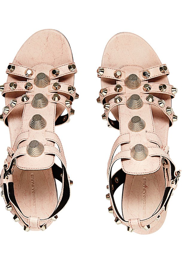 "<p>Beach club: sweeten your swim with sorbet shades</p> <p>Sandals, $1295, Balenciaga, <a href=""http://www.misslouise.com.au"">misslouise.com.au</a></p>"