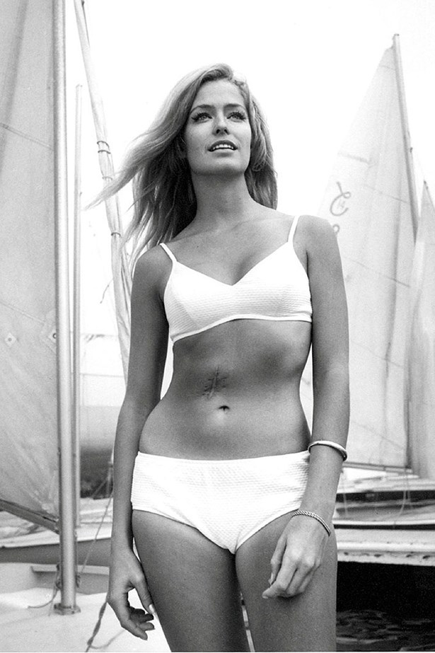 <p>Beach club: sweeten your swim with sorbet shades</p> <p>Farrah Fawcett in a high-waisted white bikini </p>