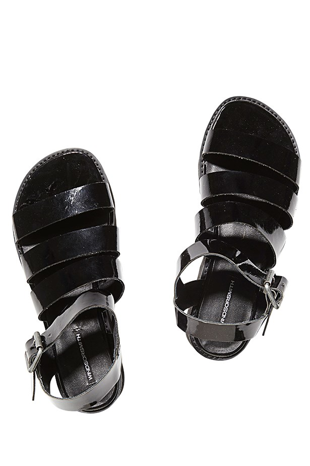 "<p>Mandals, $99.95, Windsor Smith, <a href=""http://www.windsormsith.com.au"">windsormsith.com.au</a>"