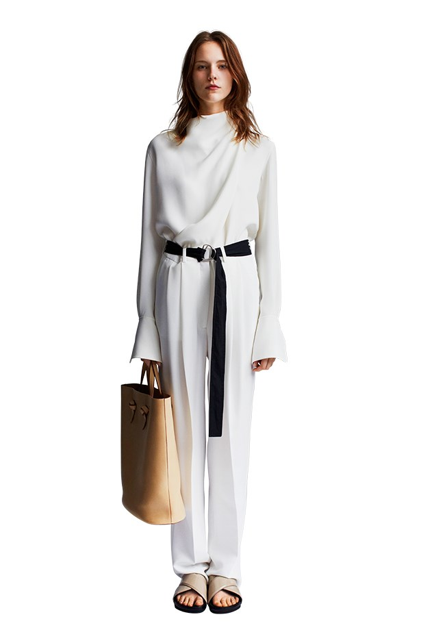<p>Ditch the 70's street-safari look and reference the resort collections by going pretty up top.</p> <p>Céline</p>