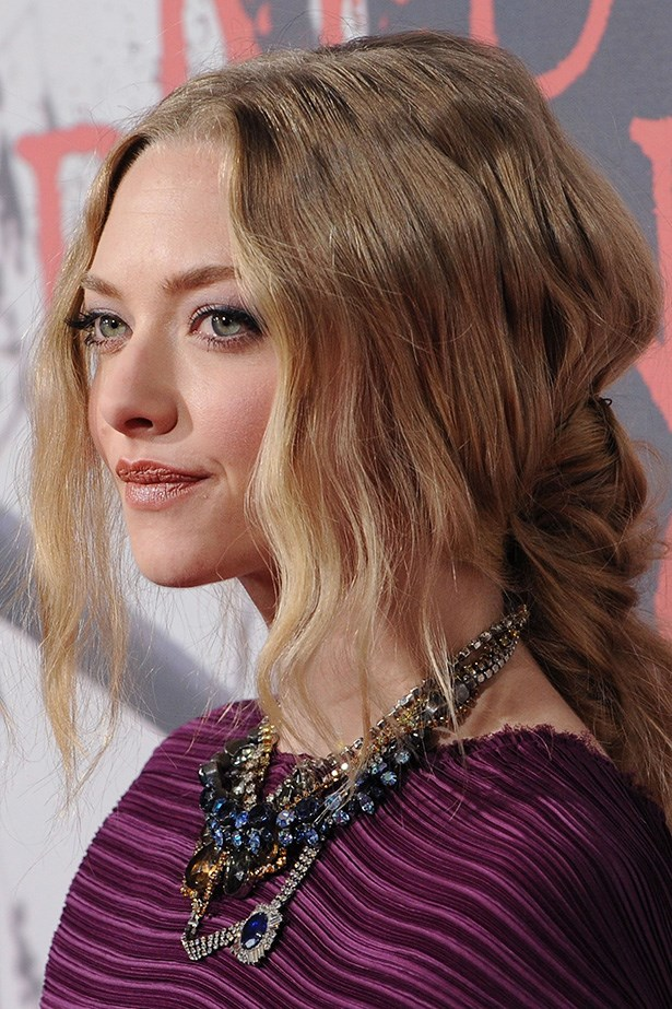 At the LA premiere to of Red Riding Hood in 2011, Seyfried's hair was a modern take on the half-up half-down 'do.