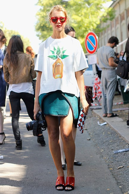 Fashion consultant Natalie Joos is clearly a pineapple enthusiast