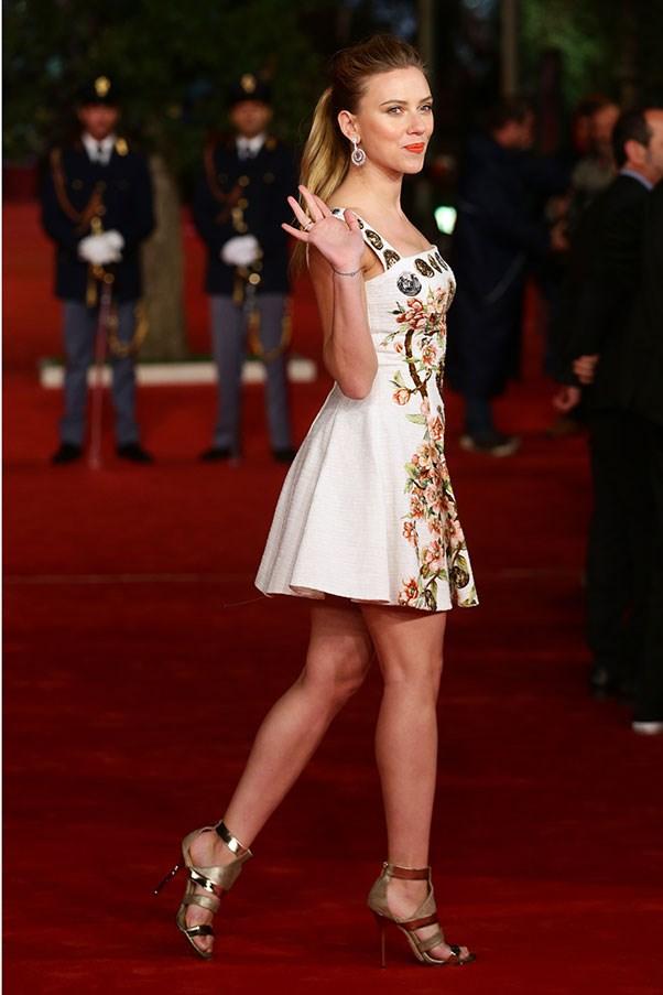 Scarlett Johansson at the Her premier in Rome